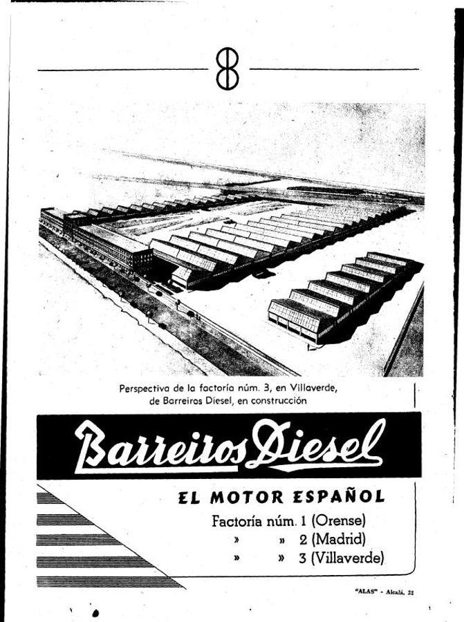 Anuncio de la fábrica de motores en 1956