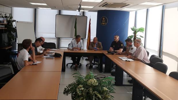 Imagen de la reunión celebrada este jueves en Algeciras, a la que ha asistido el cónsul de Marruecos