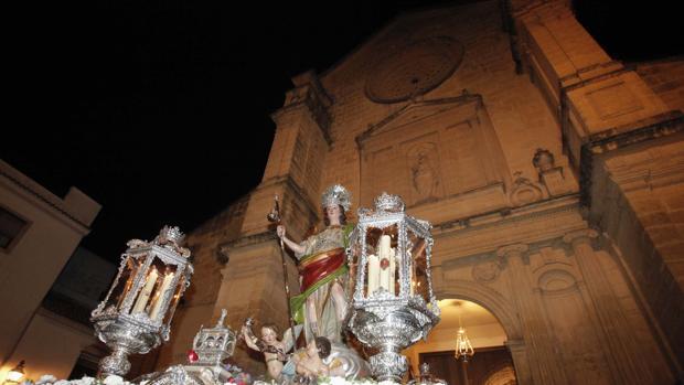 San Rafael Arcángel durante su salida extraordinaria en el año 2019 hasta la Mezquita-Catedral