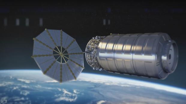Representación de un carguero espacial Cygnus, donde se ha hecho la prueba para evitar riesgos