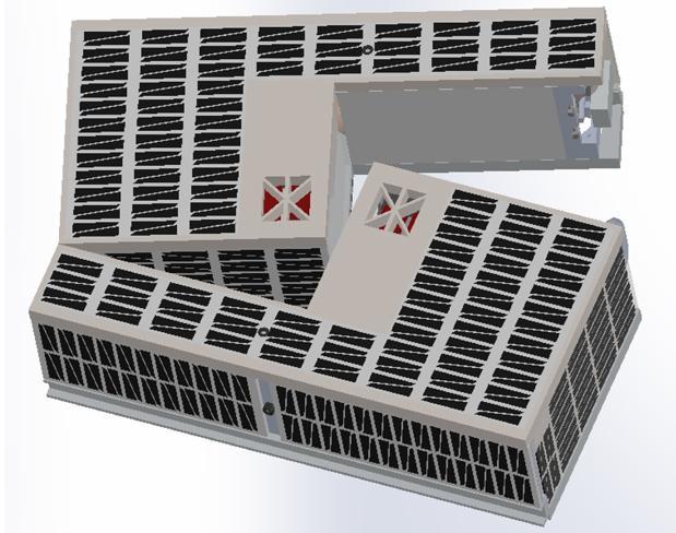 Una representación del CubeSat separado después del despliegue