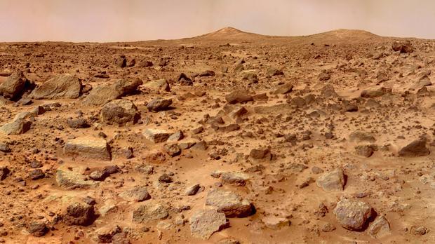 Imagen de Marte capturada por el rover Mars Pathfinder en 1997