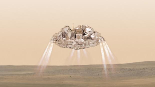 El módulo Schiaparelli debía aterrizar en Marte impulsado por retrocohetes, pero estos se apagaron antes de tiempo y quedó destruido