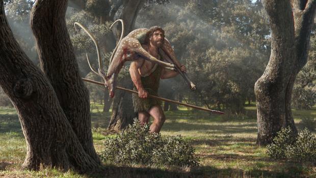 Recreación de un neandertal