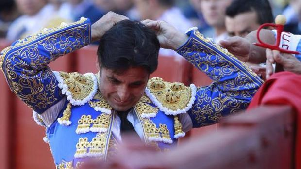 Francisco Rivera, durant la corrida de toros de la Feria de Sevilla.