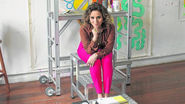 La artista brasileña Beatriz Milhazes, fotografiada en su estudio en Río de Janeiro