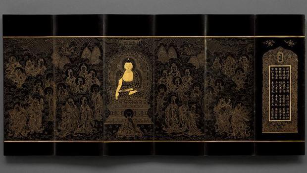 Detalle de los «Sutras de la Sabiduría Imperial»