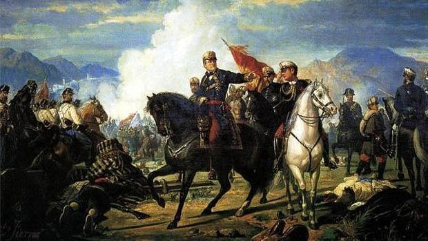 O'Donnell, durante la batalla de Tetuán