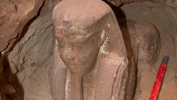 La esfinge de arenisca hallada en Egipto