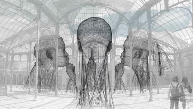 «Invisibles», recreación de la instalación que Plensa hará en el Palacio de Cristal del Retiro a partir del 16 de noviembre