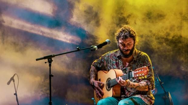 El artista gaditano Juanito Makandé, en su concierto de este sábado