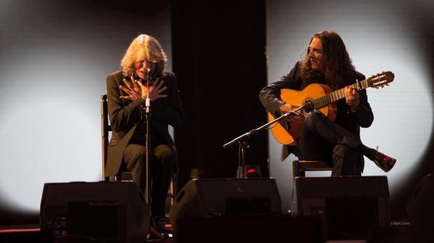 El cantaor José Mercé y el tocaor Tomatito, en un concierto de su gira conjunta