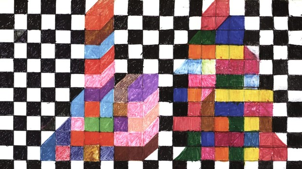 Detalle de la obra «Dibujos con visión mala», de Teresa Burga