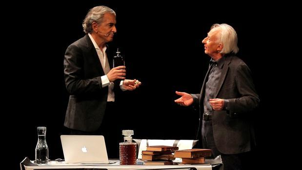 Bernard-Henri Lévy y Albert Boadella, en el estreno de «Looking for Europe» en Valencia