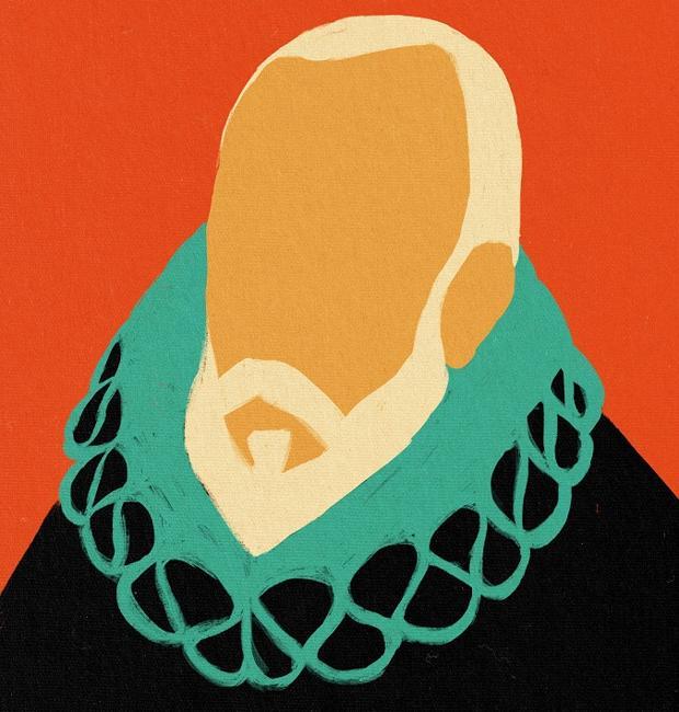 Retrato de Cervantes realizado por la artista madrileña Coco Dávez