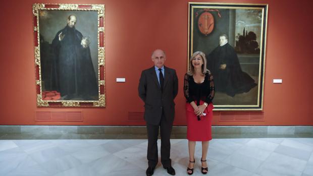 La consejera Patricia del Pozo junto a Bernard Ruiz-Picasso en el Bellas Artes