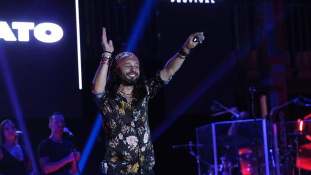 El artista sevillano Javier Labandón en el Concert Music Festival