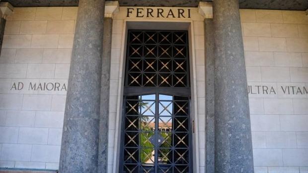 Imagen del mausoleo de la familia Ferrari en el cementerio de San Cataldo, en Módena