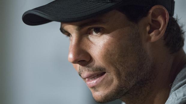 Rafael Nadal, durante la rueda de prensa