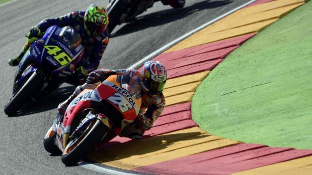 Pedrosa y Rossi en Motorland