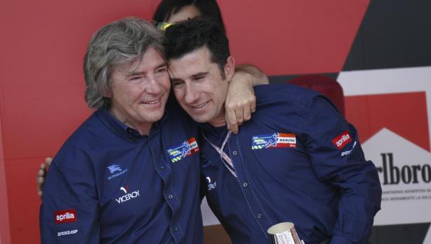 Ángel Nieto y Jorge Martínez Aspar, en una imagen difundida por el nuevo Ángel Nieto Team