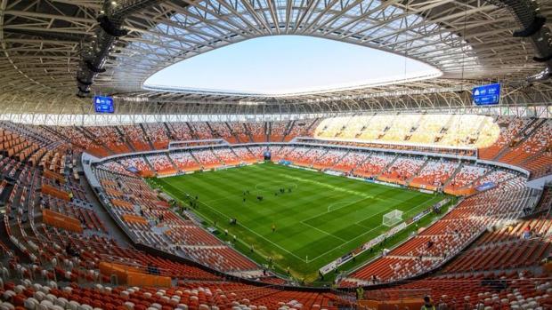 El interior del estadio Mordovia Arena del Mundial de Rusia 2018
