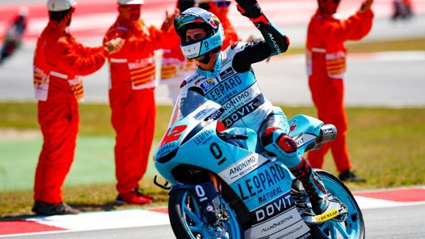 Marcos Ramírez, celebrando el triunfo en Montmeló