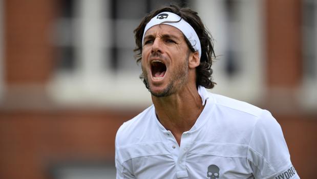 Feliciano López celebra su victoria en Queen's