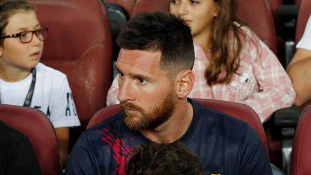 Messi, en el Camp Nou