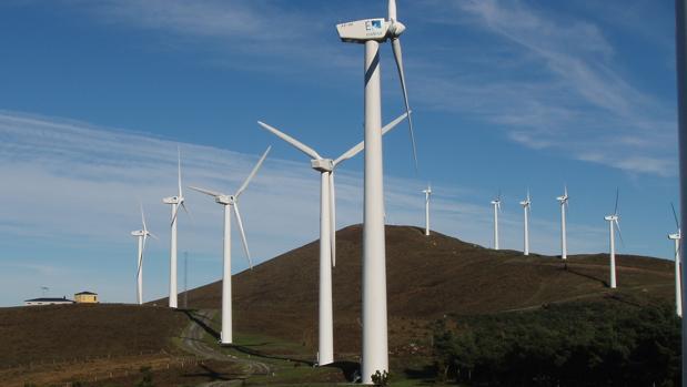 Parque eólico en Galicia