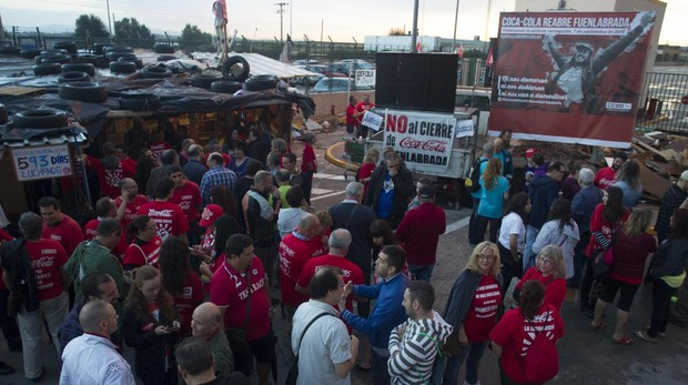 Protestas de trabajadores afectados por un ERE