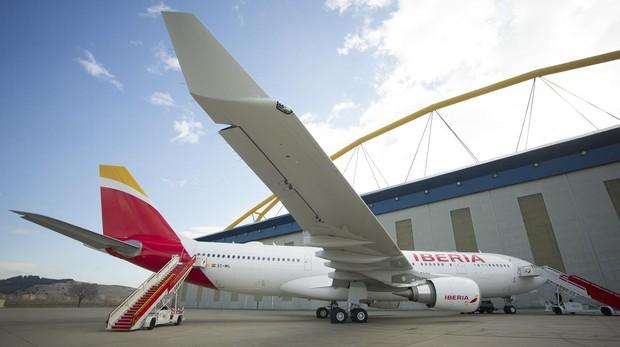 Avión de Iberia en Barajas