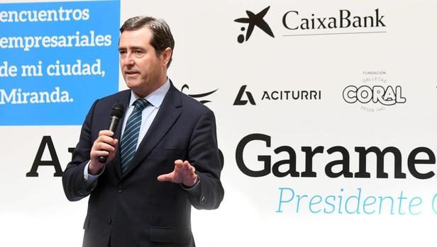 Conferencia del presidente de la Confederación Española de Organizaciones Empresariales (CEOE), Antonio Garamendi