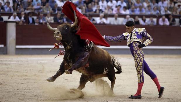 José María Manzanares en Las Ventas hace unos días en la corrida de la Beneficiencia