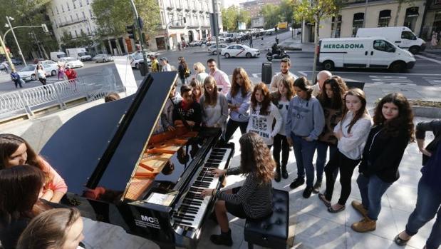 Pianos de cola en Madrid en la última edición de esta iniciativa cultural