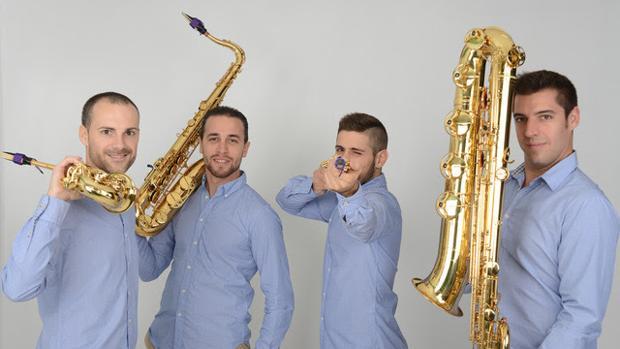 Imagen del cuarteto de saxofones