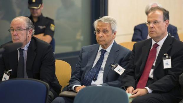 Gorriarán, Gayoso y Pego, en la Audiencia Nacional durante el juicio por las prejubilaciones millonarias