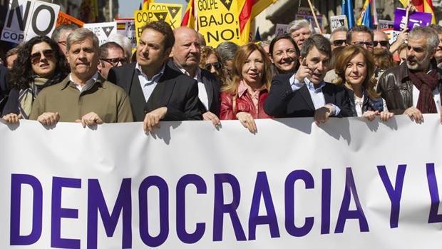 Imagen de una manifestación de Societat Civil Catalana