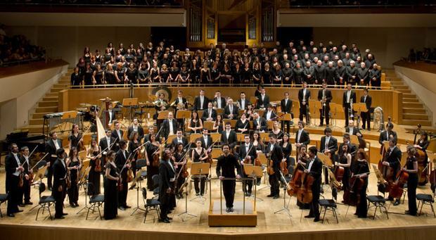 La orquesta Santa Cecilia, en uno de los conciertos ofrecidos en España