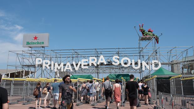 Acceso principal al recinto del Primavera Sound