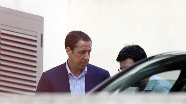 Imagen de Eduardo Zaplana tomada tras su detención el pasado 22 de mayo
