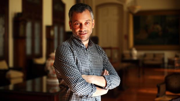 Xulio Ferreiro, alcalde de La Coruña, en el Palacio de María Pita