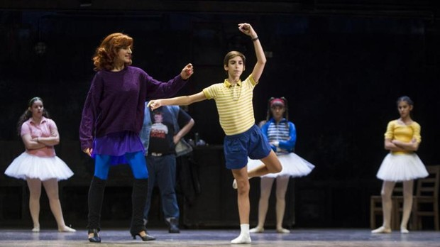 Una de las escenas del musical «Billy Elliot»