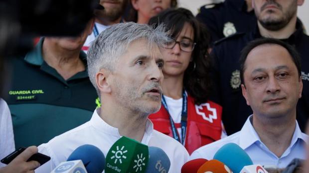 El ministro de Interior, Fernando Grande-Marlaska, el pasado mes en Algeciras