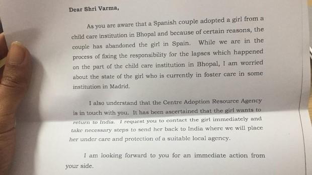 Extracto de la Embajadora india