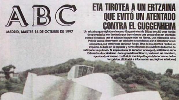 Portada de diario ABC el día posterior al atentado