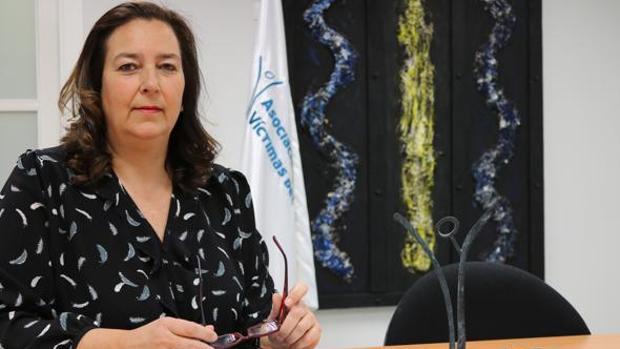 La presidenta de la AVT, Maite Araluce