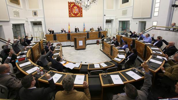 Reunión de la Comisión Provincial del Agua en la Diputación de Alicante, este viernes