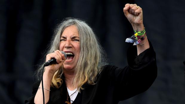 Patti Smith, durante una actuación en Glastonbury