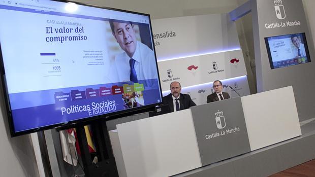 El vicepresidente primero, José Luis Martínez Guijarro, en la presentación del Portal de Compromisos